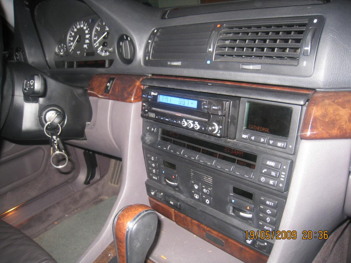 click image for larger version name: bmw 740i aftermarket radio installation  4