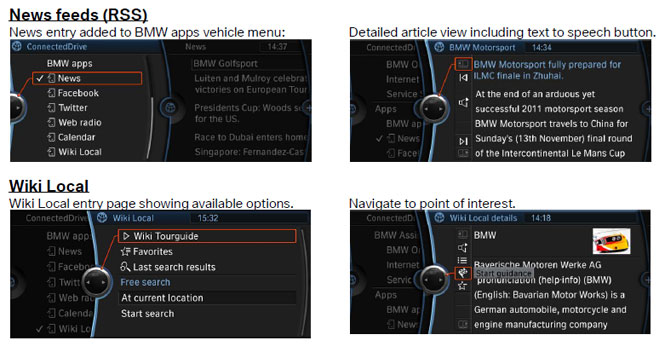 BMW Connected Apps update to include RSS feeds