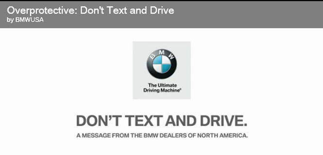BMW Launches New Campaign to Combat Distracted Driving