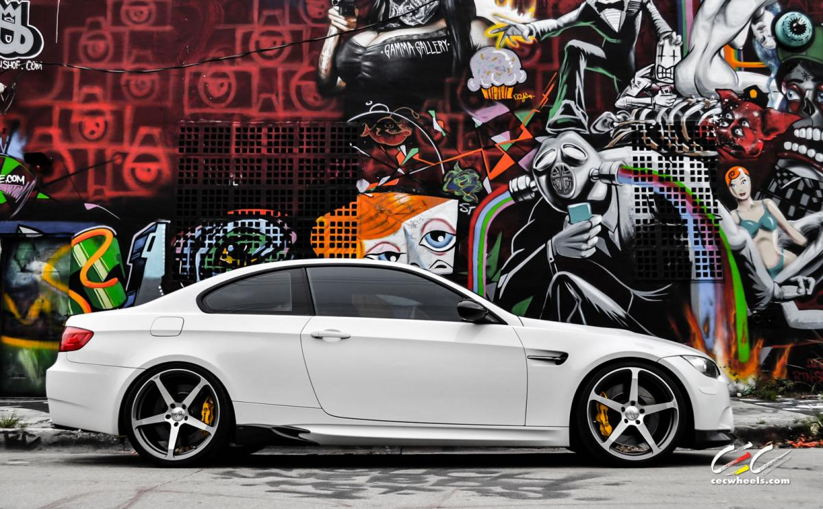 BMW M3 E92 on 20 inch wheels