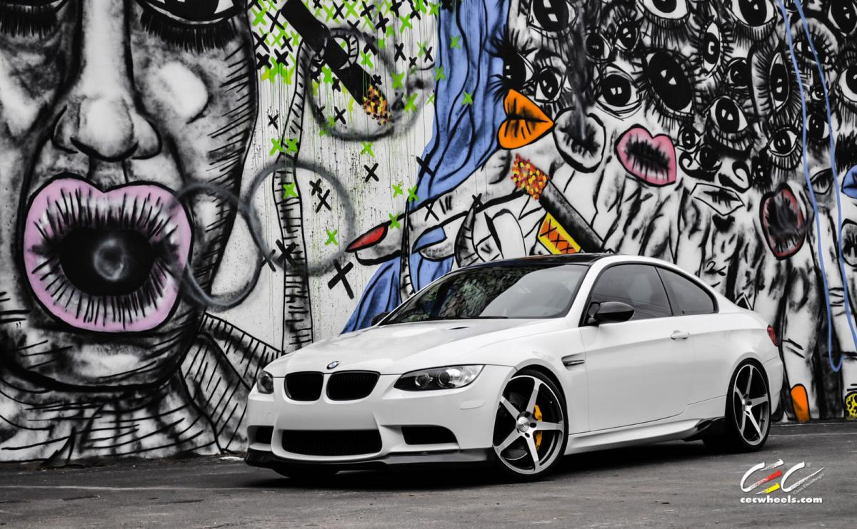 BMW E92 M3 on 20 inch gunmetal rims