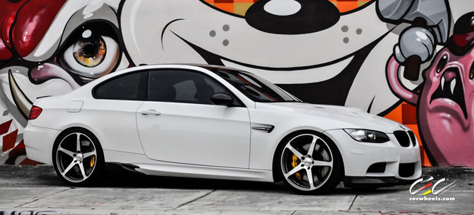 Alpine White M3 on 20 Inch CEC c884 in Gunmetal