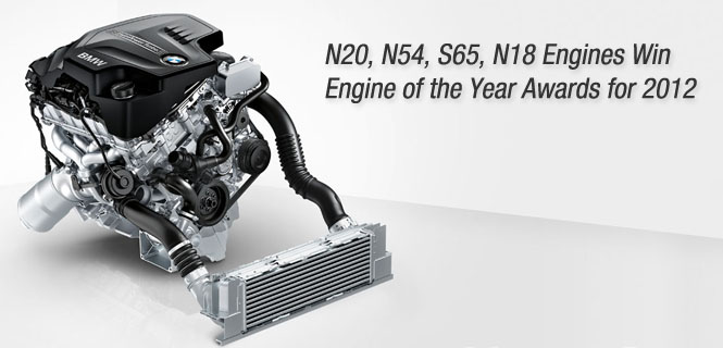 BMW Wins 4 Engine of the Year Awards for 2012