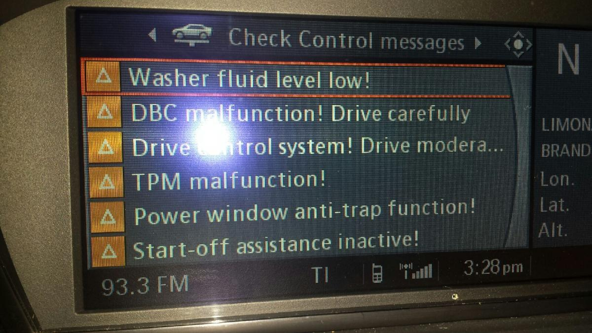 DSC/DBC Malfunction & Shut-off Assistance Codes - Bimmerfest