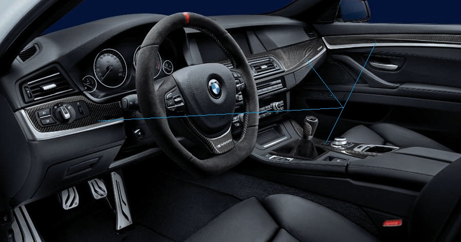 BMW F10 5 series M Performance Parts carbon fiber interior