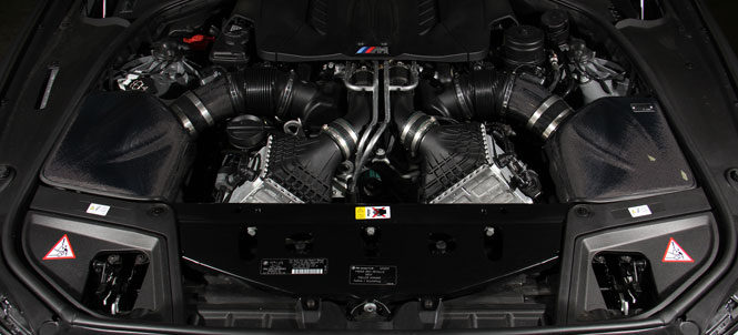 Gruppe M intake installed on Turner Motorsport Frozen F10 M5