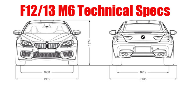 BMW F12 F13 2012 2013 M6 coupe and convertible technical specs