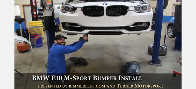 F30 M Sport Bumper Install - Time Lapse Video