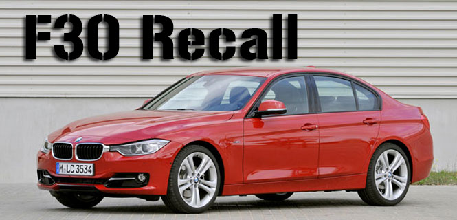 BMW F30 3 Series Recall headrests