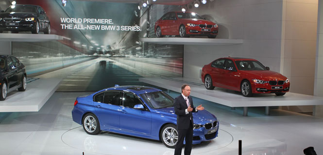 2012 F30 in Detail - What we learned after a day with the F30 at the Detroit AutoShow