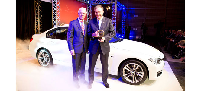 "BMW F30 3 Series Wins 2012 ""Golden Steering Wheel"" Award"