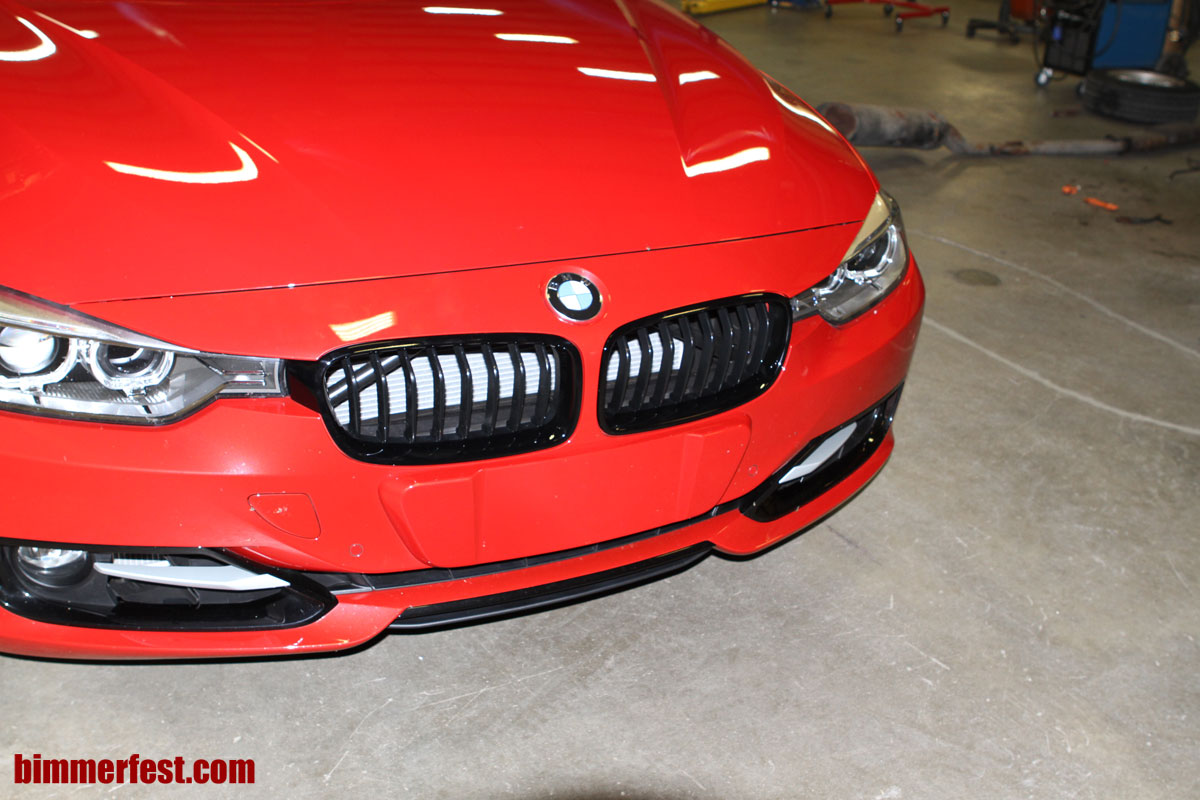 BMW M Performance Parts F30 black out grills DIY install