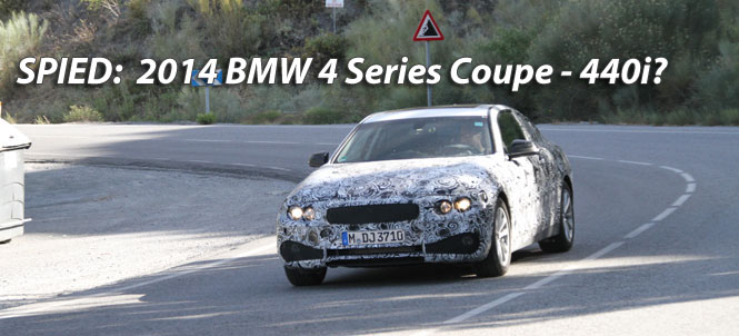 2014 BMW 4 Series - 440i Coupe Spied