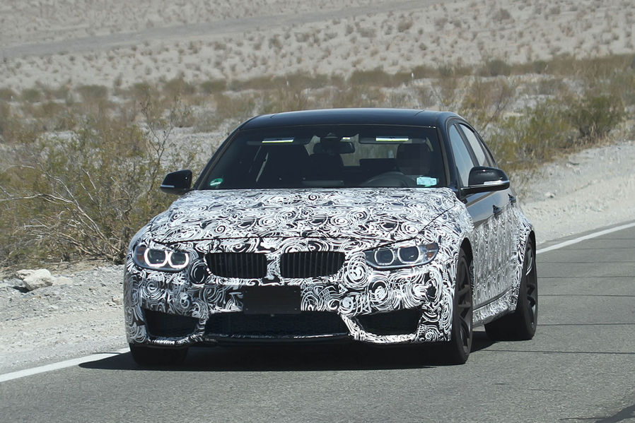 Production F80 BMW M3 bumper caught on camera