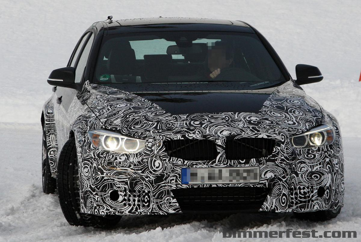 F80 2014 M3 spied - Triple turbo power plant