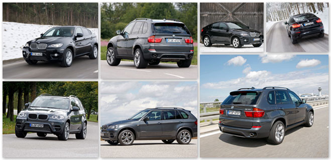 Fall 2011 updates to the BMW X5 and X6 give buyers more options, colors and wheels