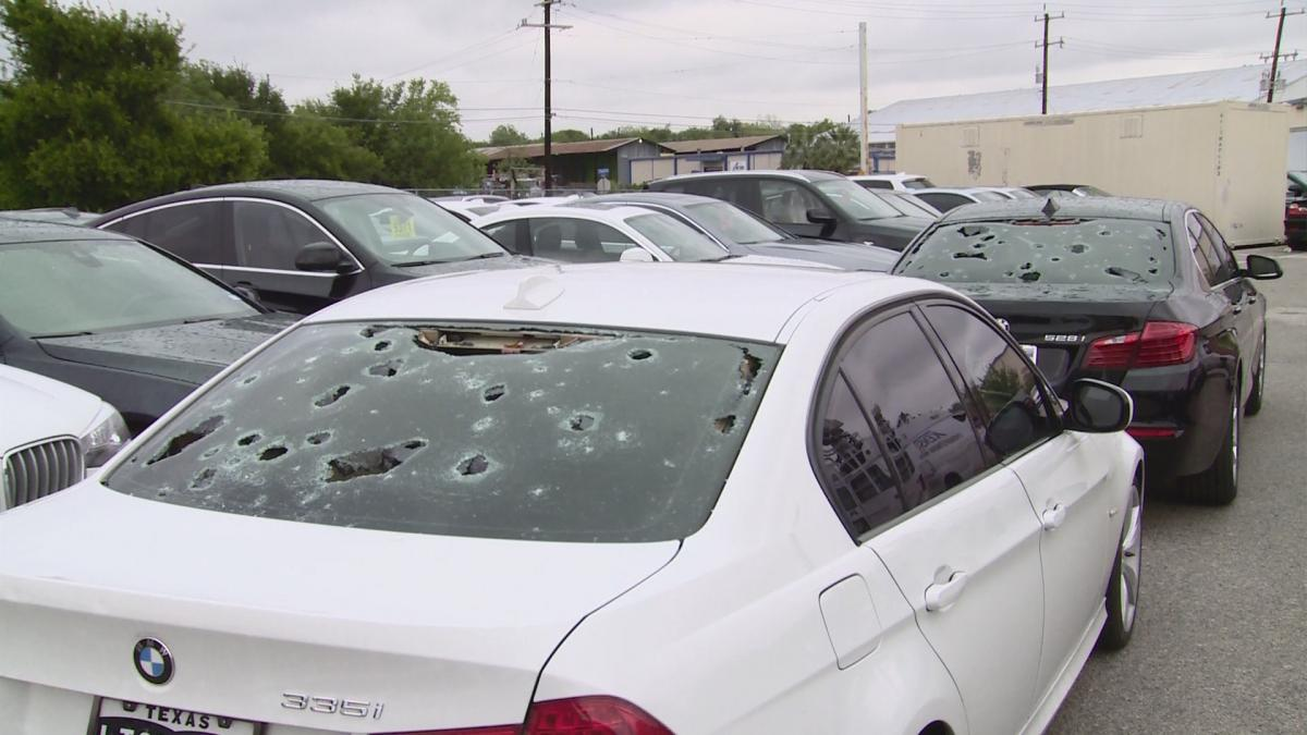 Bmw of san antonio gets hammered by hail