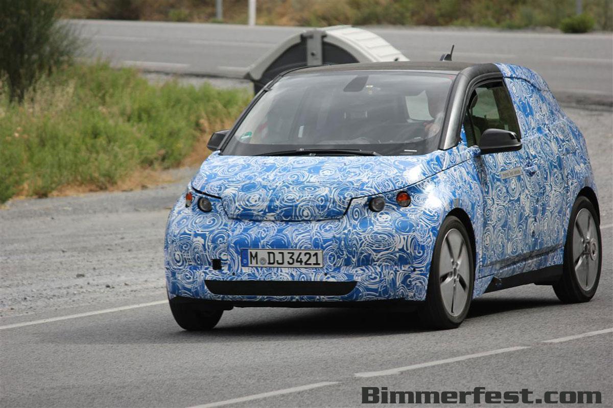 BMW i3 spied testing