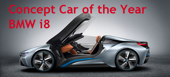 BMW i8 is 2012 Concept Vehicle of the Year