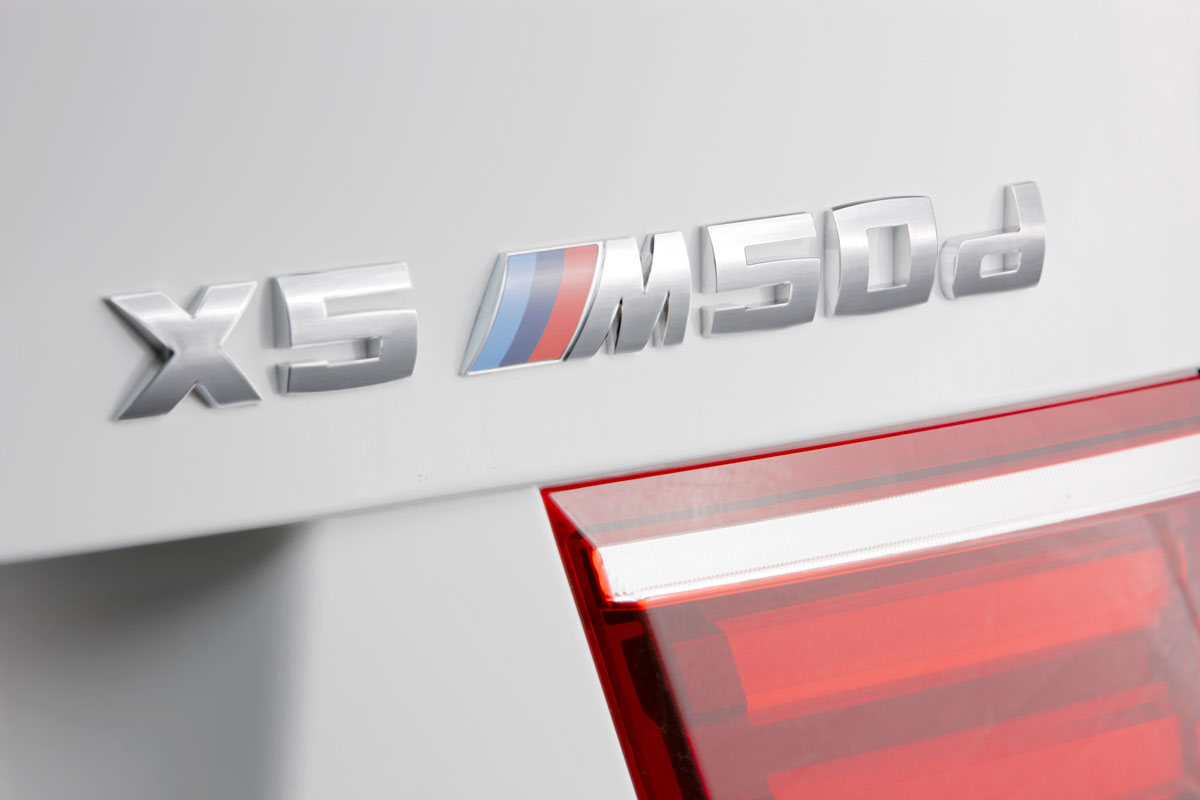 BMW M performance auto X5 M50d badge