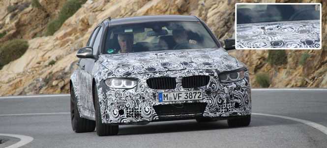 BMW M3 F80 spotted with power dome