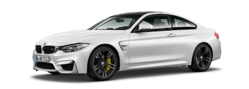 2015 BMW M4 Coupe in Mineral White Metallic