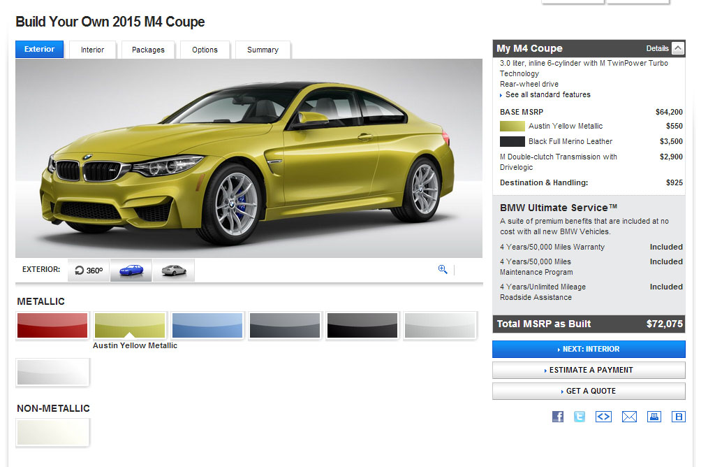 Build Your Own BMW M3 and BMW M4 Goes Live