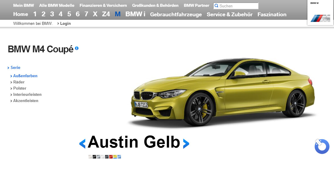 BMW M4 Coupe Configurator