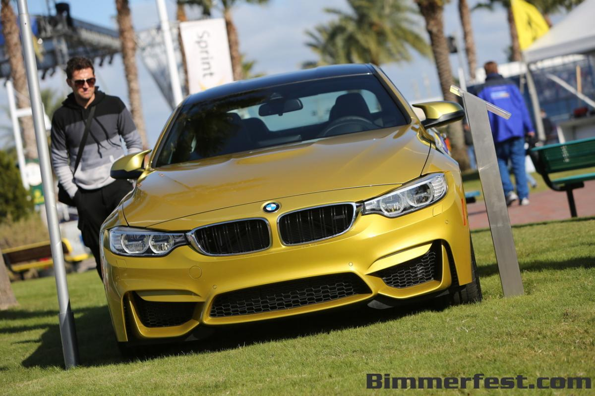 BMW M4 Coupe in Austin Yellow