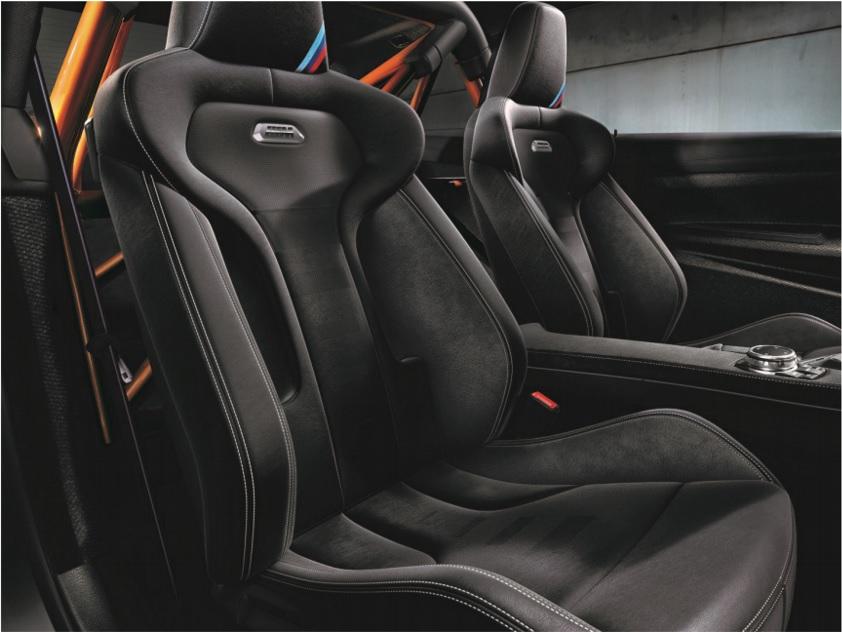 BMW M4 GTS US spec seats