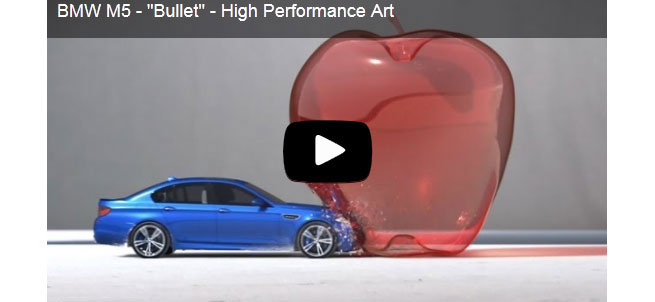 BMW M5 Super Slow Motion Bullet Footage