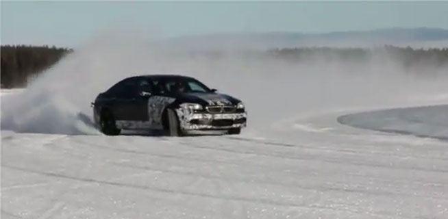 VIDEO: Pre-production 2011 M5 playing on a Frozen Lake