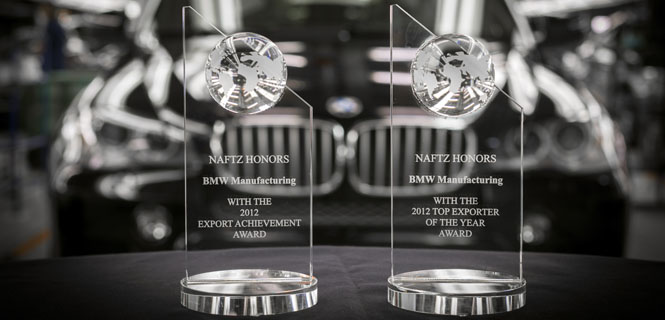 BMW Manufacturing Recognized for Export Success - Remains Largest Vehicle Exporter