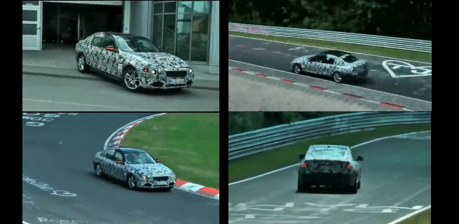 Check out the F30 test mule taking on the Nurbergring - Video