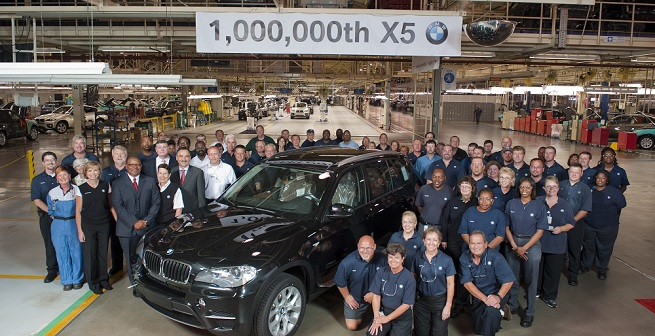 BMW Spartanburg Plant Produces 1 Millionth BMW X5