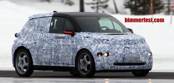 Sub Brand BMW i3 Spied Winter Testing