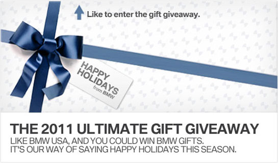 BMW Ultimate Gift Giveaway -- Daily Prizes to Fans via Facebook