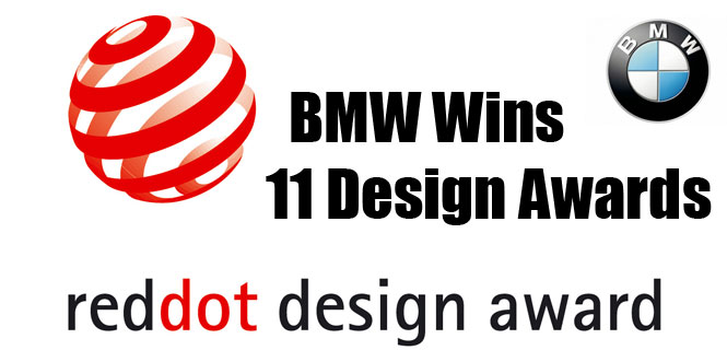BMW wins 11 reddot design awards for 2012