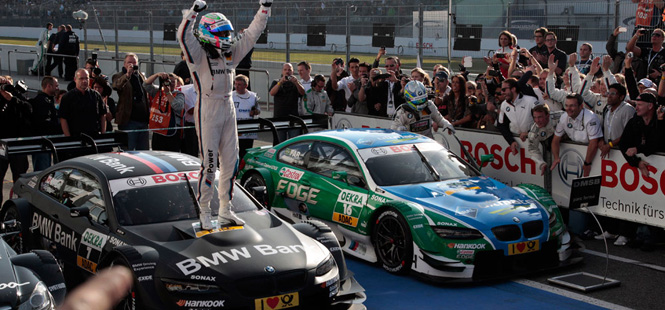 BMW wins the 2012 DTM Title with Bruno Spengler in a BMW M3