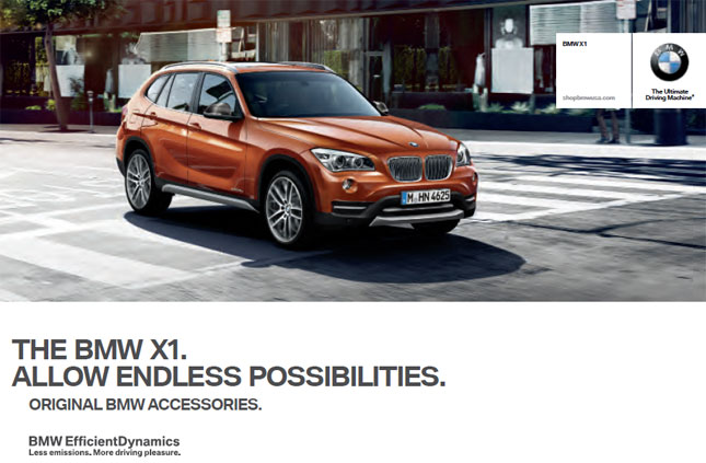BMW x1 E84 original accessories catalog