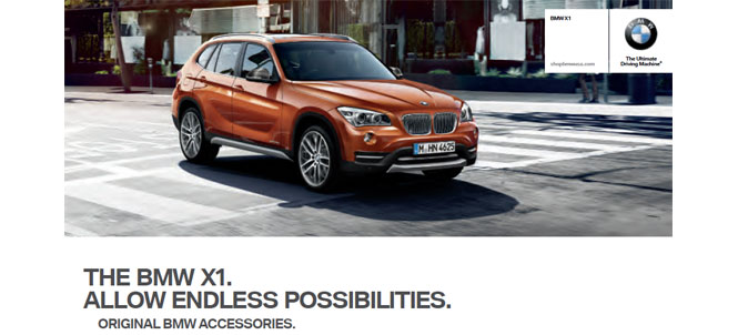 BMW X1 OEM Accessories Catalog