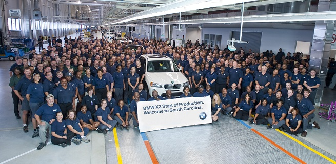Details on BMW X3 (F25) Production at Spartanburg, S.C.
