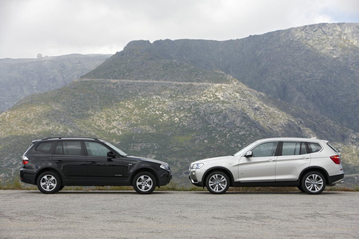 click image for larger version name bmw x3 old e83 vs