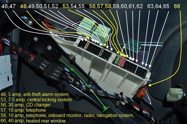 2000 bmw 540i fuse box location picture & amperage & description of every single fuse ... bmw 540i fuse box diagram