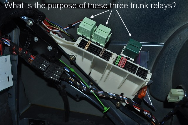 Just curious: What is the purpose of the three relays in the trunk ...