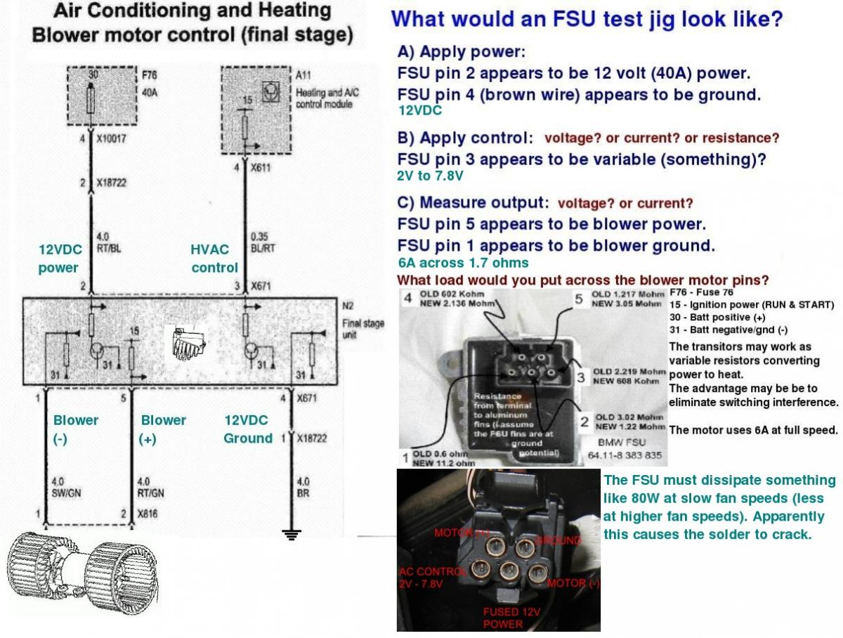 Do we have a DIY for how to build a test jig testing FSU/FSR operation on  the bench? - Bimmerfest - BMW Forums