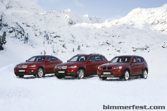 BMW X3 X5 and X6