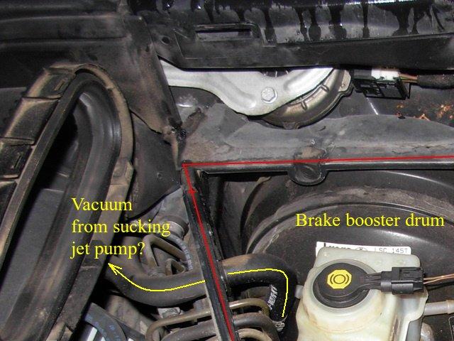 How does the BMW E39 sucking jet pump (aka suction jet pump) work