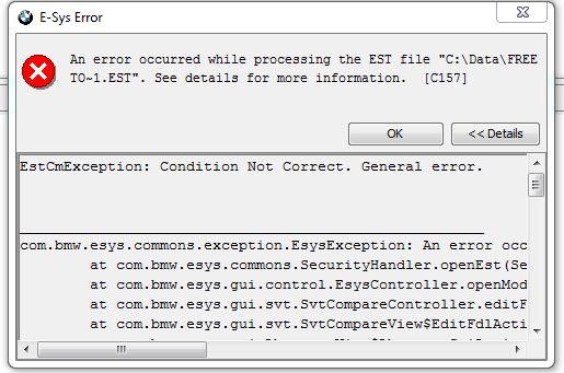 E-SYS 3 24 Error when doing Edit FDL - Bimmerfest - BMW Forums