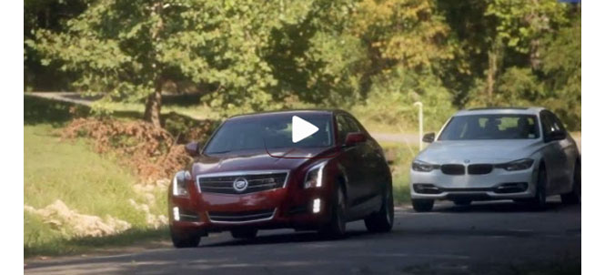Car and Driver 2013 BMW 328 vs 2013 Cadillac ATS 2.0T